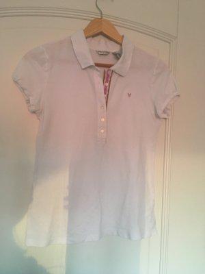 American Eagle Outfitters Camiseta tipo polo blanco