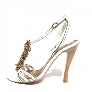 White  Bottega Veneta High Heel