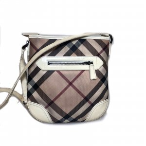 White  Burberry Cross Body Bag