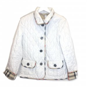 White  Burberry Jacket