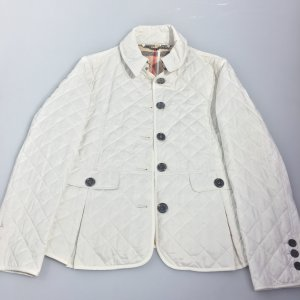 White  Burberry Trench Coat