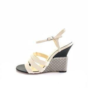 White  Chanel High Heel