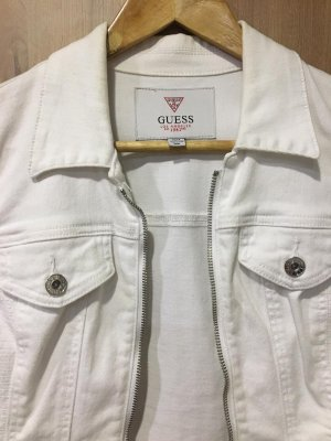 White denim jacket by Guess
