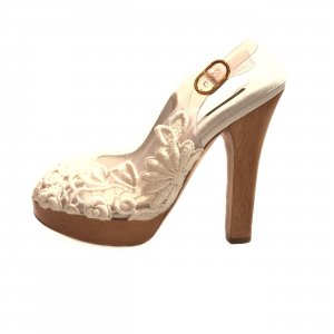 White  Dolce & Gabbana High Heel