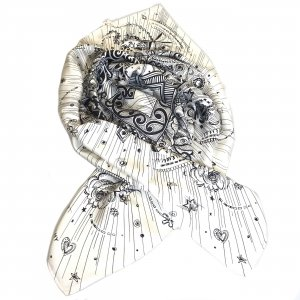 White  Givenchy Scarf
