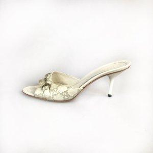 White  Gucci Flip Flop