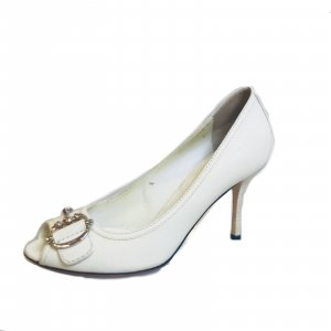 White  Gucci High Heel