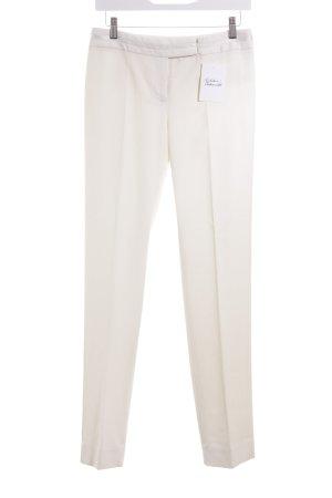 White House Black Market Pantalón de pinza crema estilo clásico