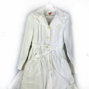 White  Hugo Boss Trench Coat