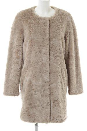 White Label Abrigo de piel sintética gris claro elegante
