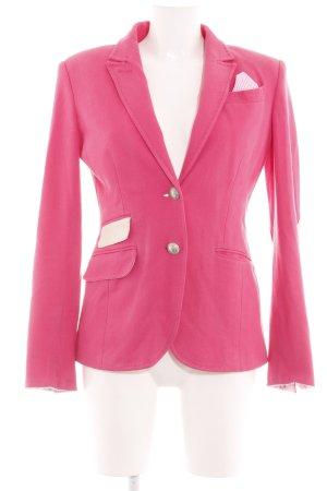 White Label Kurz-Blazer pink-wollweiß Business-Look