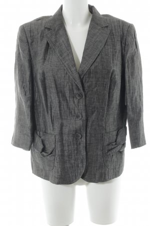 White Label Kurz-Blazer grau-hellgrau Glanz-Optik