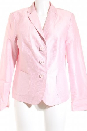 White Label Smoking-Blazer rosa-weiß Punktemuster Elegant