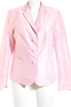 White Label Blazer smoking rosa-bianco motivo a pallini elegante