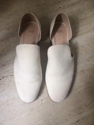 H&M Mocasines blanco puro-crema