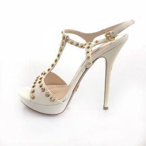 Prada High-Heeled Sandals white