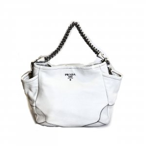 White  Prada Shoulder Bag