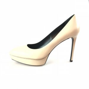 White  Saint Laurent High Heel