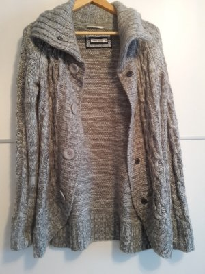 white season graue Strickjacke grau meliert