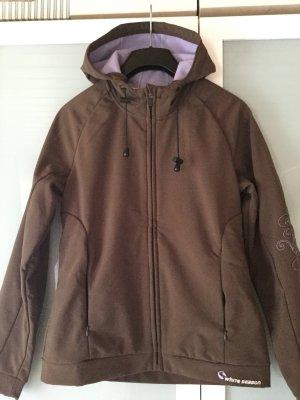 Giacca softshell marrone scuro-viola