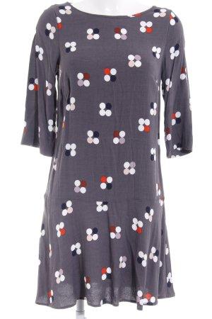 White Stuff A-Linien Kleid dunkelgrau Punktemuster Casual-Look