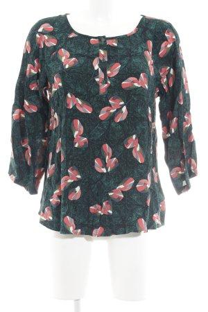 White Stuff Schlupf-Bluse waldgrün-rot Blumenmuster Elegant