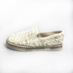 White  Tory Burch Flat