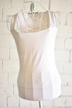 Zara Débardeur à bretelles blanc tissu mixte