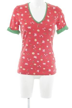 Who's that girl Camiseta estampado floral Estilo cómic