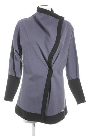 Who's'Who Cardigan grey violet-black casual look