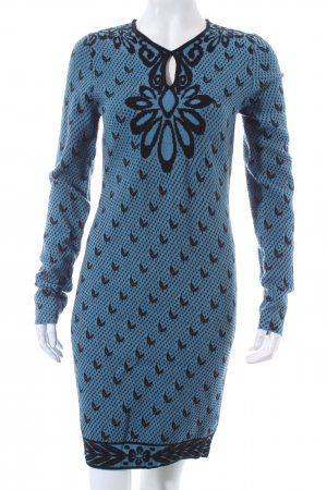 Who's'Who Sweater Dress blue-black flower pattern casual look