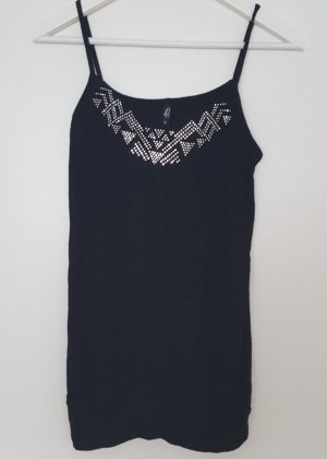 Ann Christine Spaghetti Strap Top black viscose