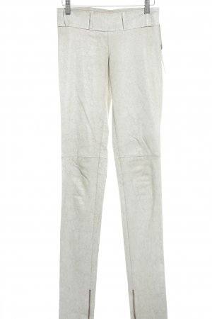 Why Shy Leather Trousers oatmeal-natural white biker look