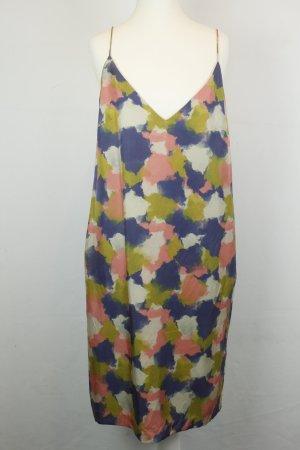 Whyred Kleid Seidenkleid Midikleid Gr. 38 bunt
