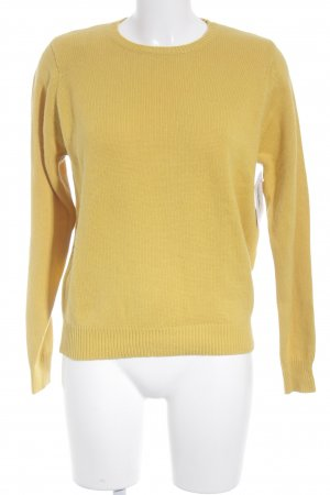 WHYRED Strickpullover dunkelgelb Casual-Look