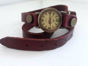 Wickel Armbanduhr Leder