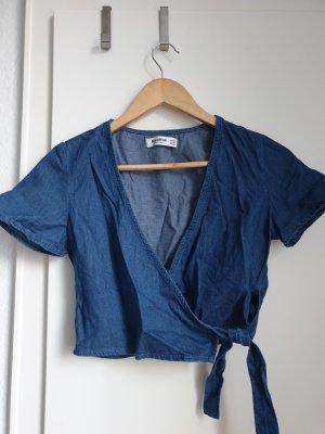 Pull & Bear Camicetta aderente blu