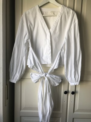 H&M Wraparound Blouse white