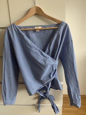 H&M Camicetta aderente blu