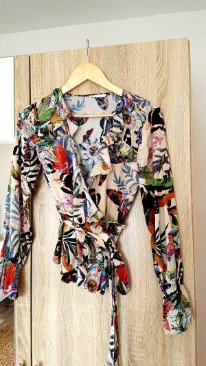 H&M Blusa cruzada multicolor