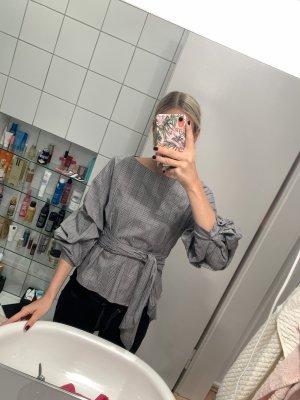 Zara Wikkelblouse grijs