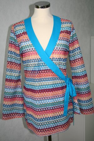 Apart Wraparound Blouse cornflower blue