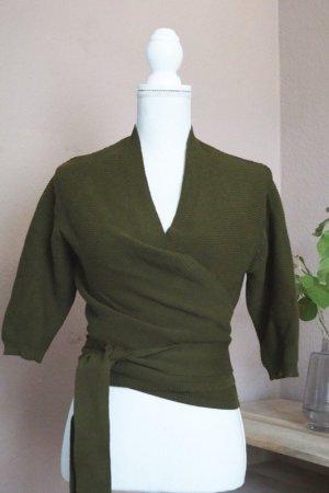 Mango Veste en tricot gris vert-vert olive