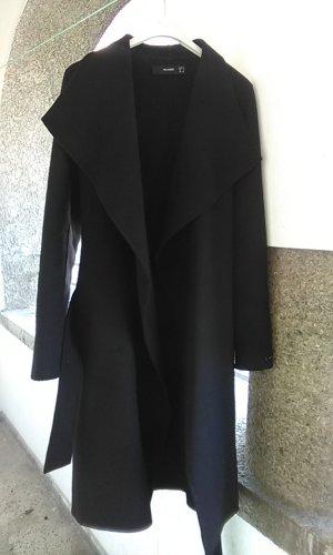 Hallhuber Chaqueta cruzada negro tejido mezclado