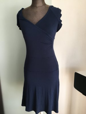 Wickel Optik Kleid Gr 34 36 XS von Orsay , blau