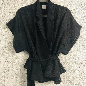 Wickel transparent Kimono Bluse twist turn one size