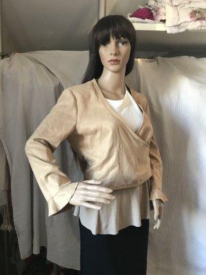 Mango Leather Vest camel