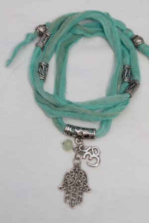 Bracelet turquoise-silver-colored