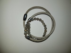 Wickelarmband mit Labradorith und Nappalederband*Neu*