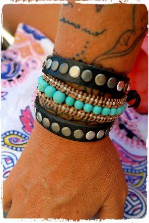 Wickelarmband Nieten schwarz aus Ibiza
